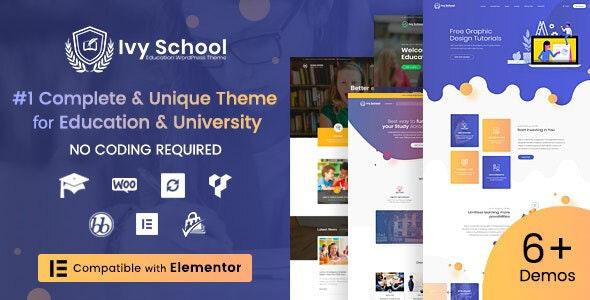 IvyPrep - Education & School WordPress Theme
