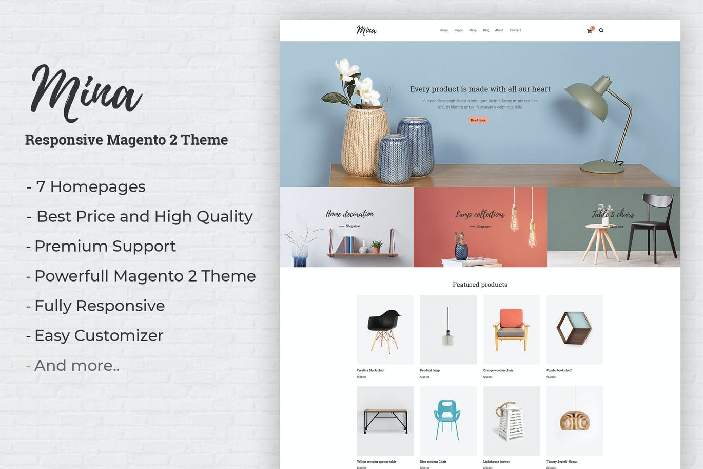 Mina - Responsive Furniture Shop Magento 2 Theme