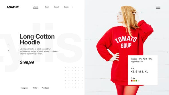 Minimal Fashion Store - Clean Market Promo - Clothes Collection Shop -Product Presentation