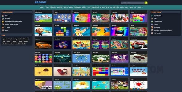 Mobile Responsive Arcade Site Script v1.6.0