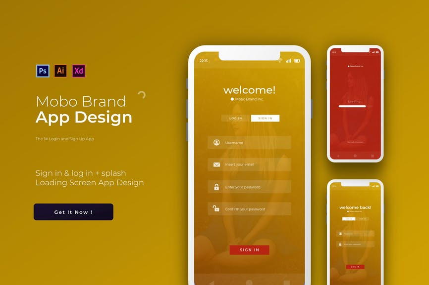 Mobo Login & Sign Up - App Template