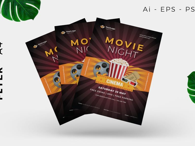 Movie Night Event Flyer Design