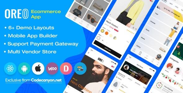 Oreo Fashion v2.1.1 - React Native App for Woocommerce