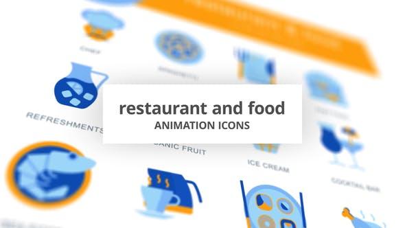 Restaurant & Food - Animation Icons