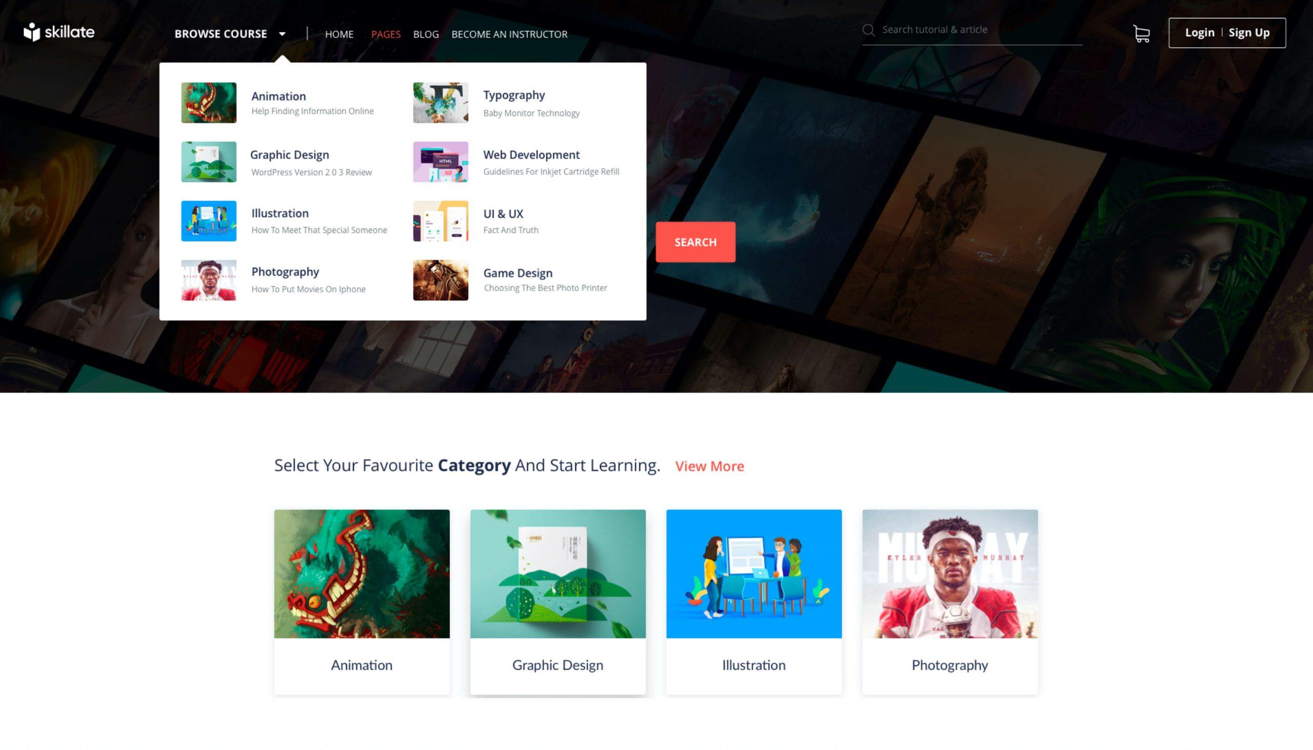 Skillate v1.1.3 - E-Learning WordPress Theme