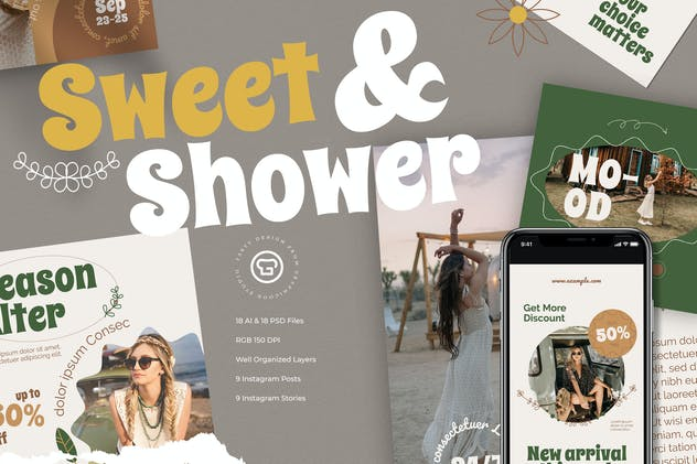 Sweet And Shower Instagram Pack