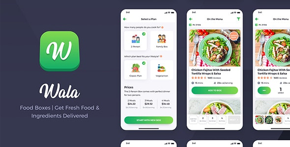 Wala v1.0 - Food & Delivery React Native App Template