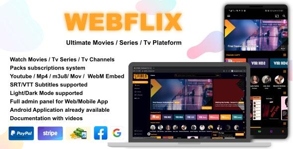 WebFlix - Movies - TV Series - Live TV Channels - Subscription