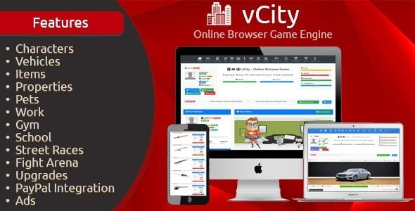 vCity v2.1 - script for a browser-based online game RPM (MMORPG)