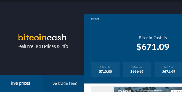 BCHLive - prices and real-time info for bitcoin