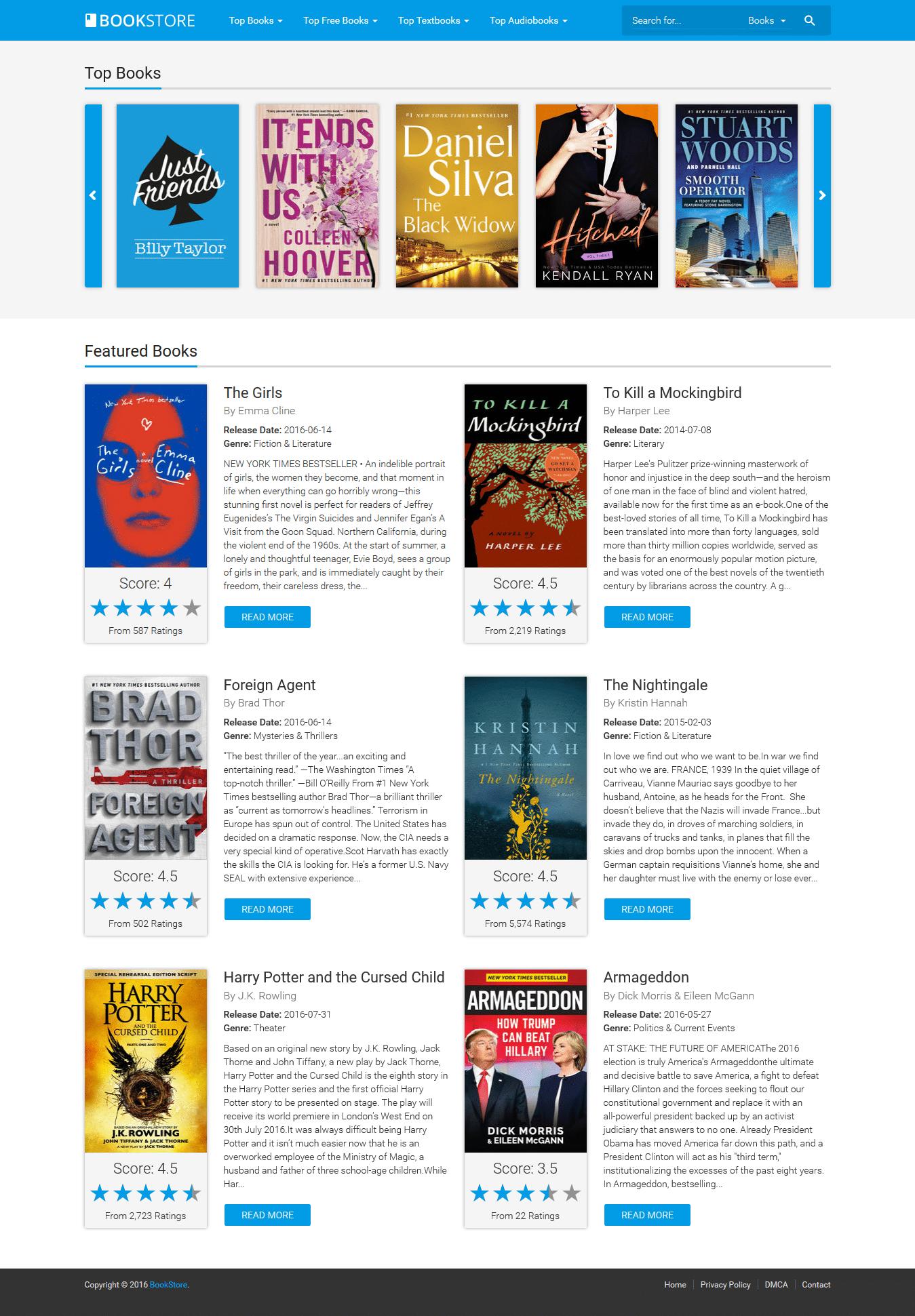 BookStore v1.3 - partner script for e-books and audiobooks