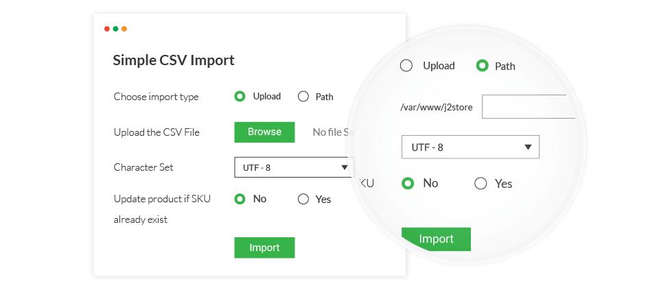 CSV Import & CSV Export