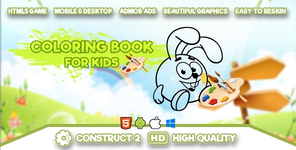 Coloring Book for Kids - HTML5 Game