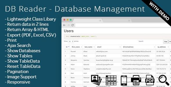 DB Reader - Database Management