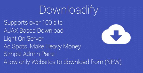 Downloadify - video download script