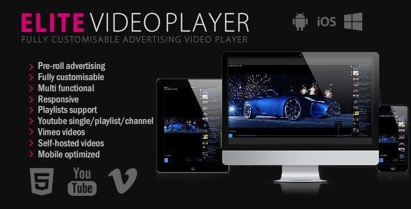Elite Video Player - HTML5 video player script