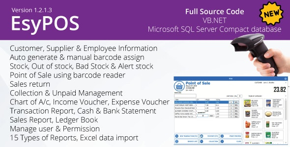 EsyPOS v1.2.1.3 - .NET inventory management