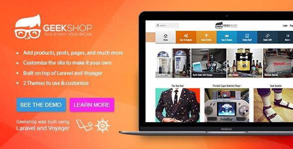 GeekShop - Geeky Cool Product Site