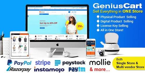 GeniusCart v1.7.4 NULLED - Multi-vendor e-commerce system