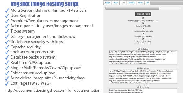 ImgShot Image Hosting Script