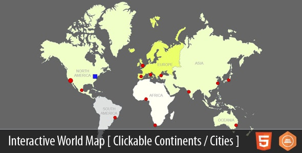 Interactive World Map With Cities
