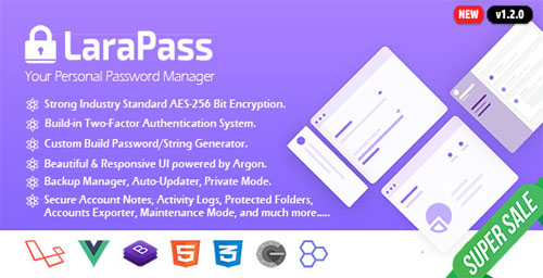 LaraPass v1.1.0 NULLED - your personal password manager