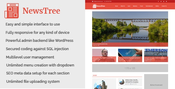 NewsTree - news site script