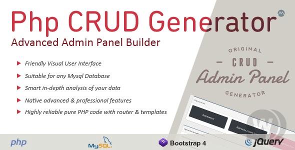 PHP CRUD Generator v1.7.7 NULLED