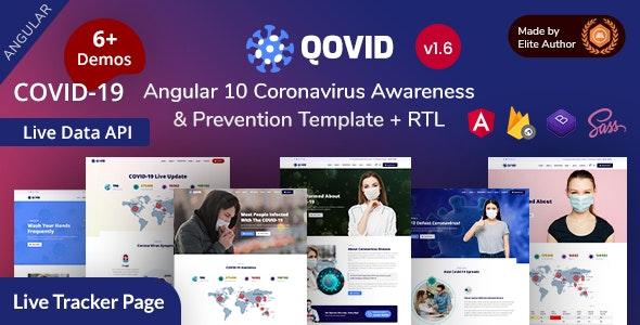 Qovid - Angular 10+ COVID-19 Medical Prevention