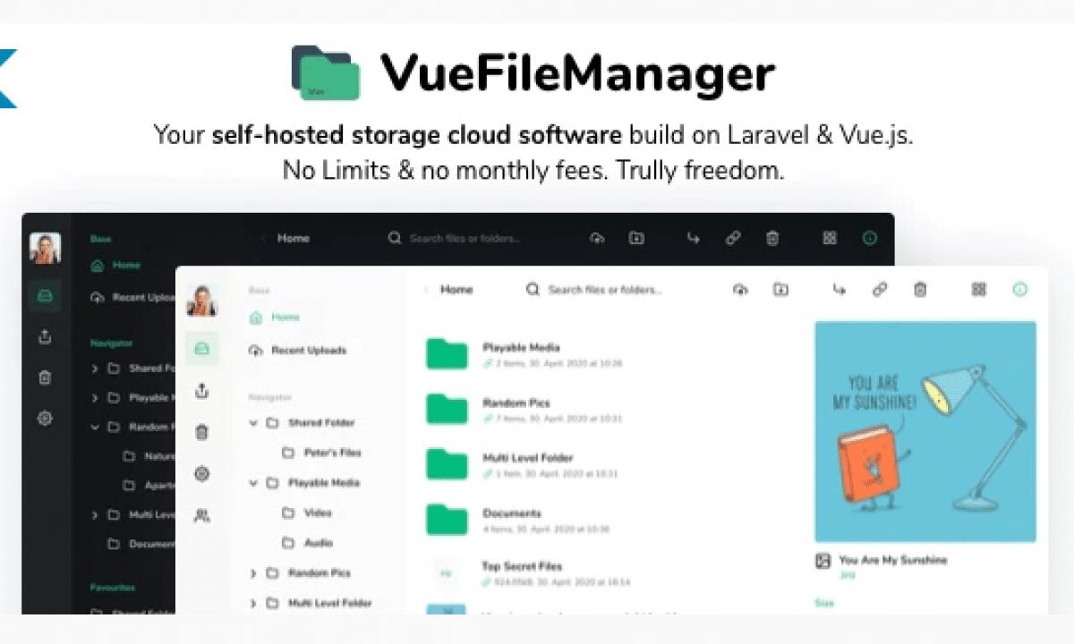 Vue File Manager with Laravel v1.6.3 - private cloud script