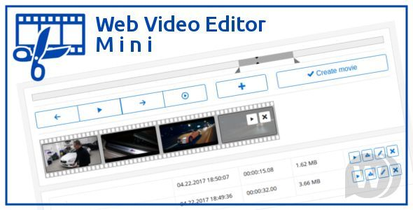 Web Video Editor Mini v1.2.1 - online video editor script