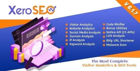 XeroSEO 6.1.7 NULLED - Visitor Analytics & SEO Tools