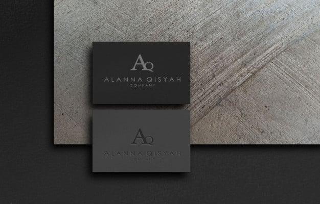 3d logo mockup on paper Premium Psd