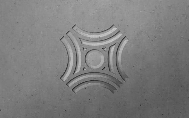 3d modern engraved luxury logo mockup Premium Psd