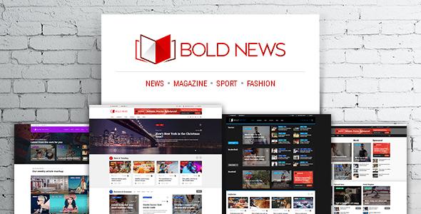 Bold News v1.4.8 - news template for WordPress