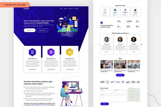 Business website page design Premium Psd