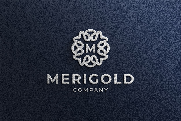 Close up on 3d embossed logo mockup Premium Psd