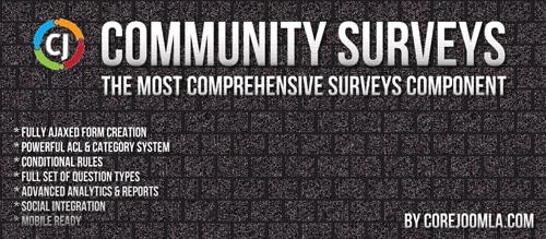 Community Surveys Pro v5.2.2 - polls for Joomla