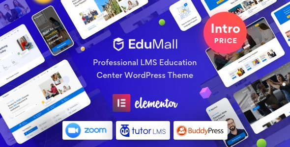 EduMall v1.1.0 NULLED - WordPress Theme for LMS Professional Education Center