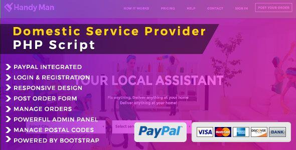 Handyman - Domestic Service PHP Script - PHP Scripts