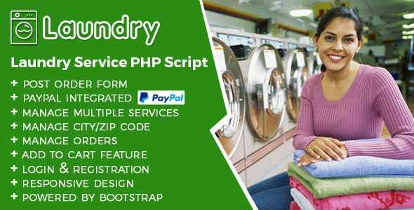 Laundry Service PHP script