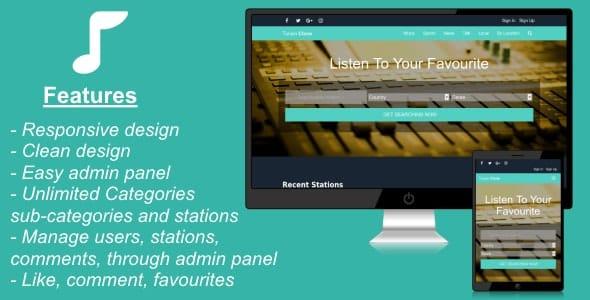 Listen Radio Portal - radio portal script