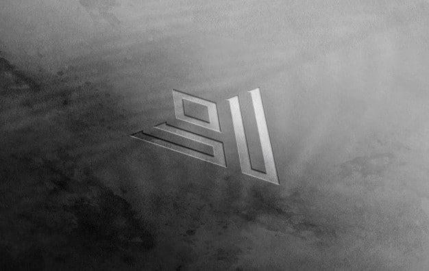 Logo mockup 3d wall Premium Psd