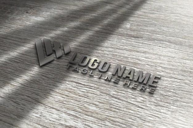 Modern 3d logo mockup Premium Psd