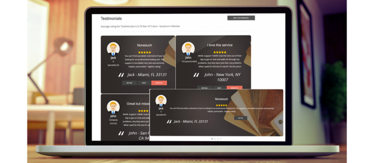 My Testimonials v1.1.10 - component reviews for Joomla