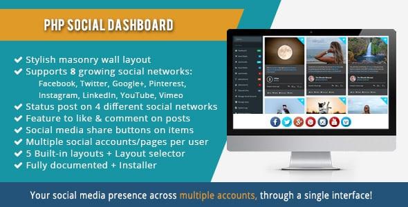 PHP Social Dashboard v1.5.5 - social media management
