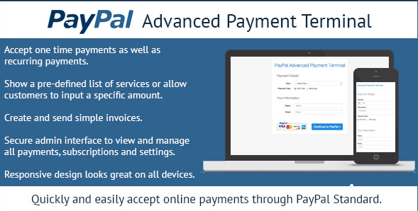 PayPal Advanced Payment Terminal v1.3 - accepting PayPal payments