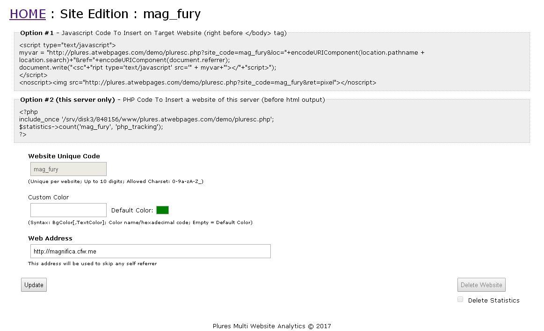 Plures v1.3 - PHP web analytics script