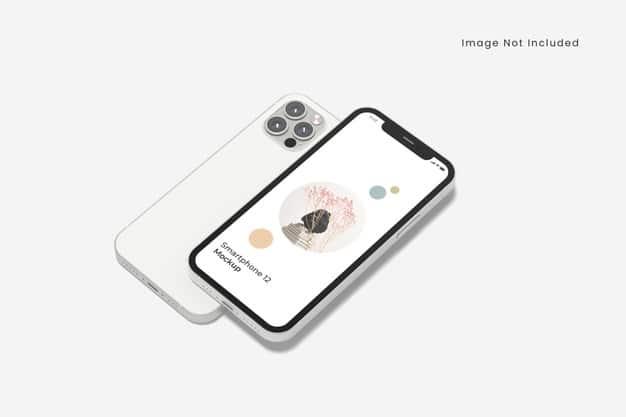 Realistic smartphone mockup isolated Premium Psd