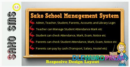 Sako School Management System v1.1 - school management